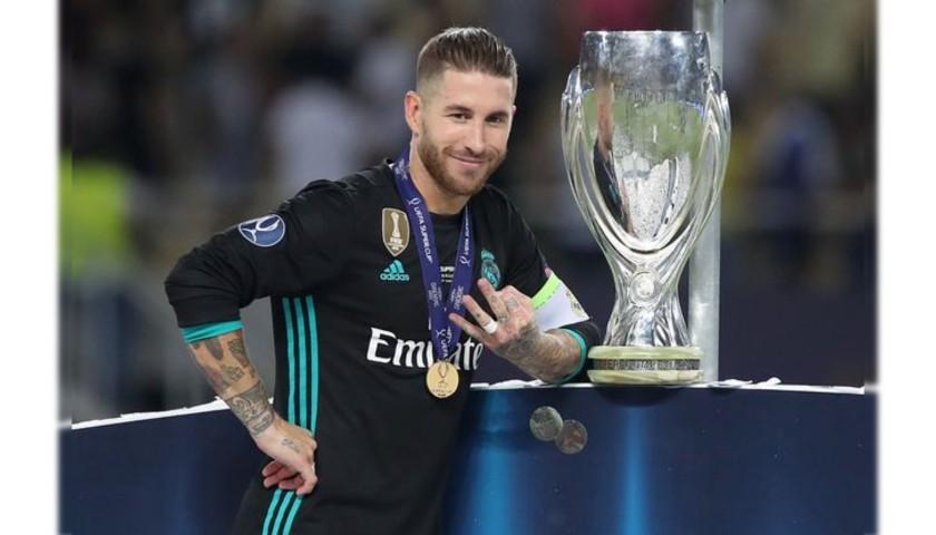 Sergio Ramos's Real Madrid Match Shirt, UEFA Supercup 2017 ...