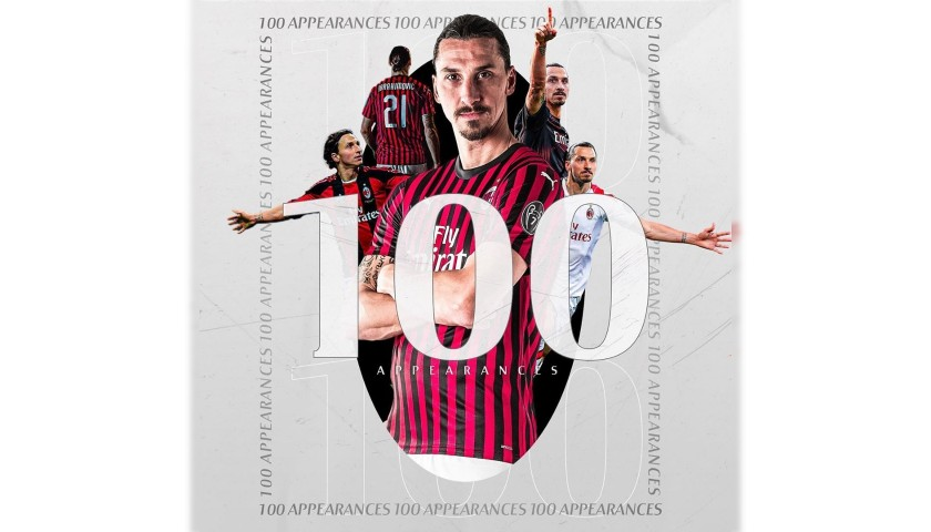 Ibrahimovic's Official Milan Signed Shirt, 100 Caps