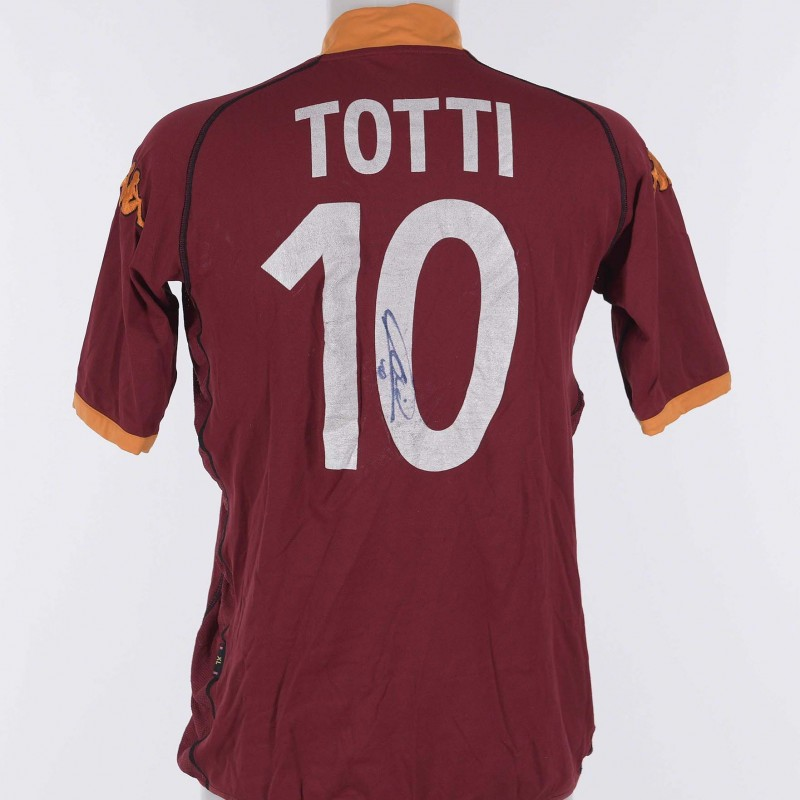 Francesco Totti's AS Roma Signed Shirt, 2002/2003