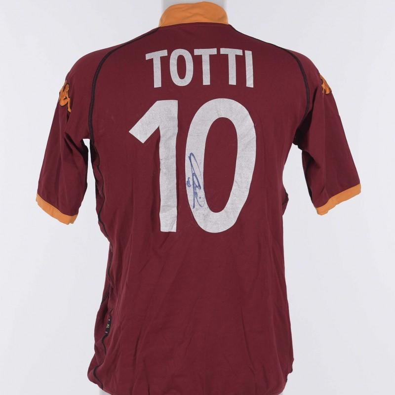 Francesco Totti's AS Roma Signed Shirt, 2002/2003