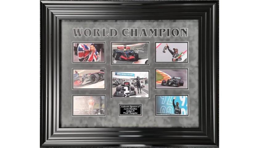 Lewis Hamilton Signed Photo Display