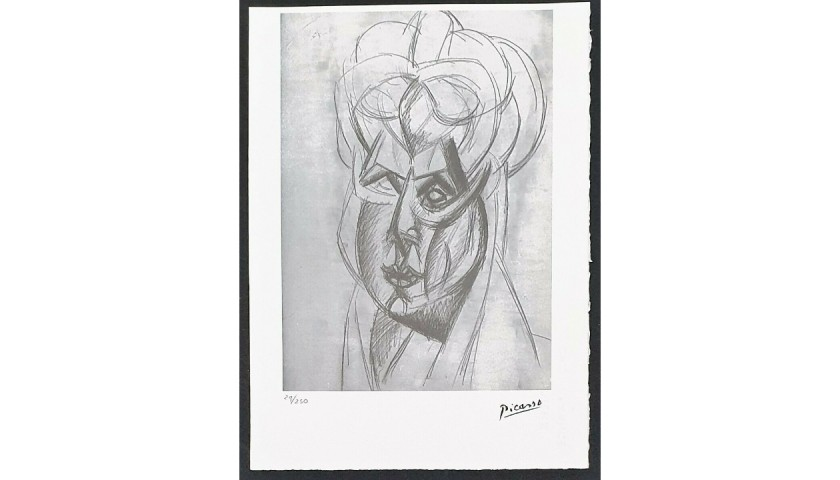 Pablo Picasso - Offset Original Lithograph with Dry Stamp