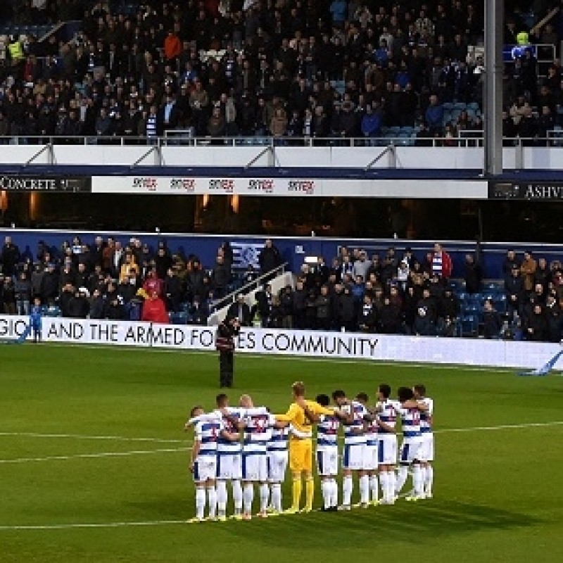 Cousins' Queens Park Rangers Match-Issued Signed Poppy Shirt
