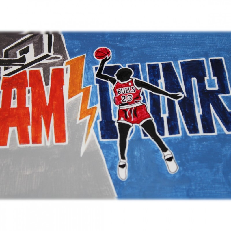Slam Dunk Michael Jordan  - Unique Artwork by Manuel Frattini
