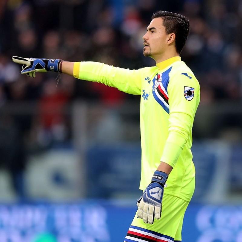 Emil Audero's Match-Issue Puma Gloves, 2018/19