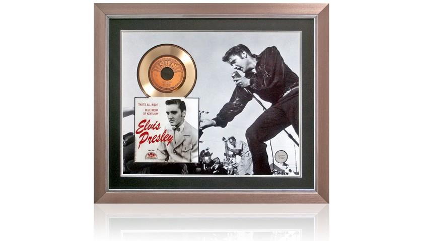 Elvis Presley Limited Edition Gold Disc Presentation