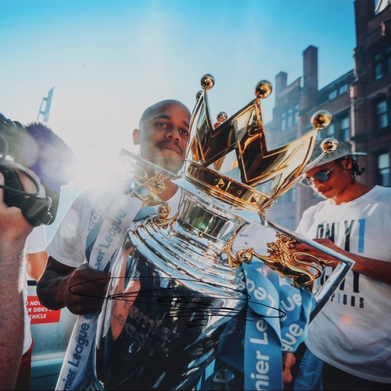 """Champions Parade"" Photograph Signed by Kompany"