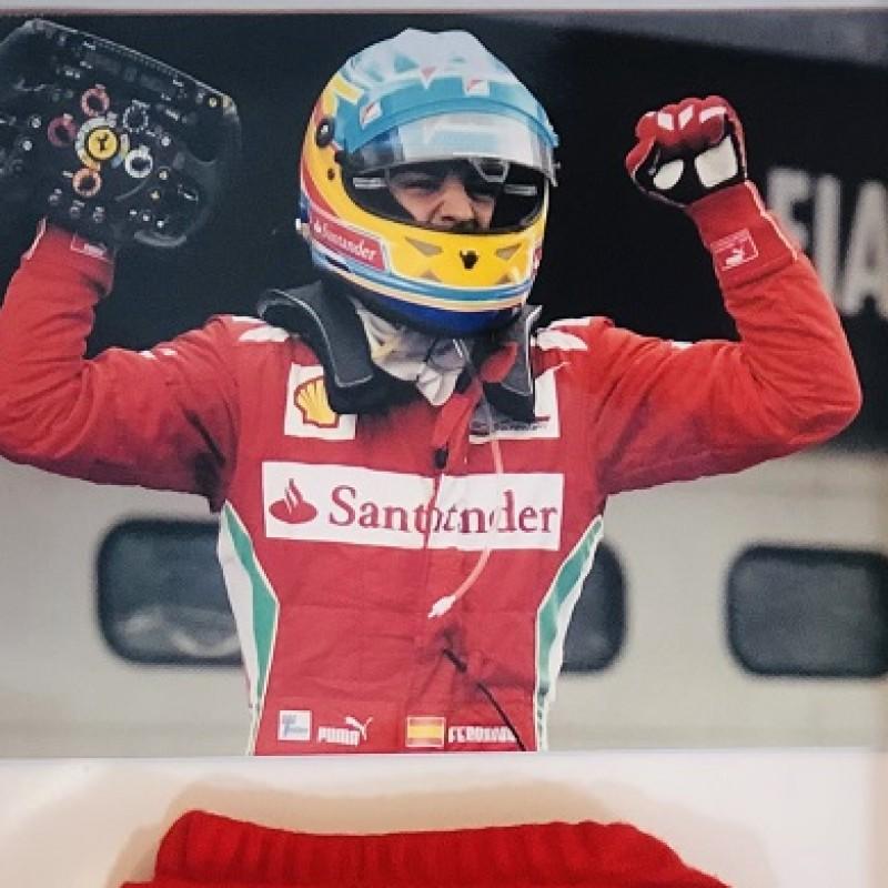 Fernando Alonso Signed Ferrari Knee Pad