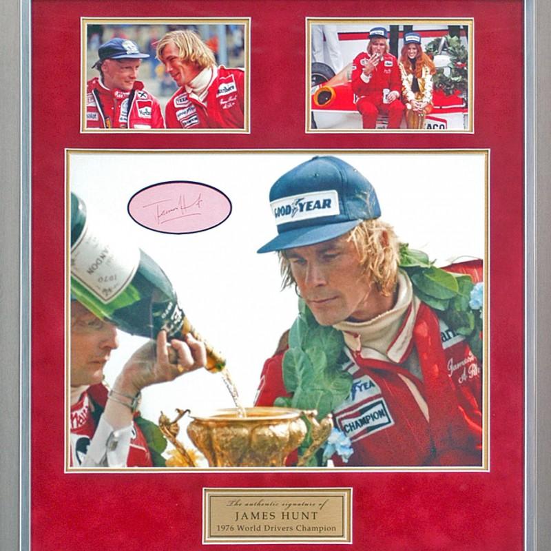 James Hunt Hand Signed Formula 1 Presentation