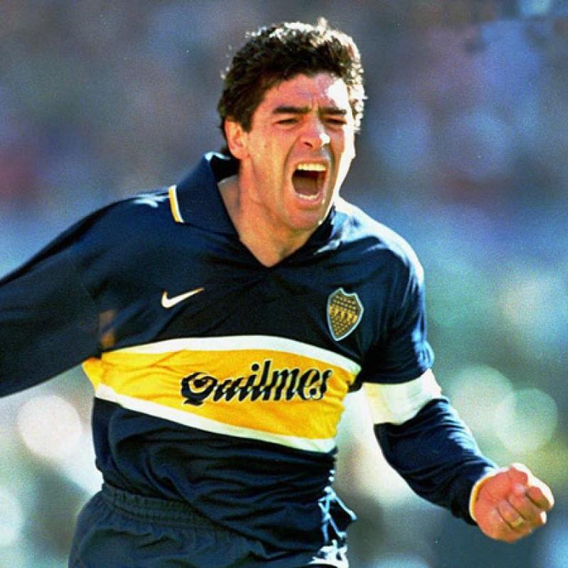 Official Boca Juniors Cap - Signed by Maradona