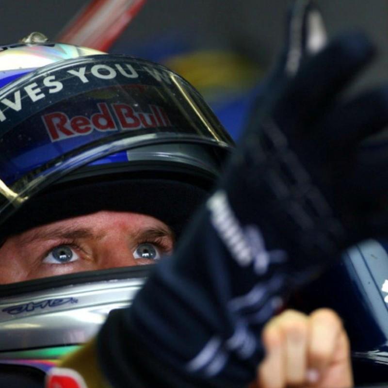 Sebastian Vettel's 2008 Toro Rosso Worn and Signed Puma Race Gloves