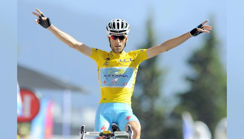 Vincenzo Nibali's Yellow Signed Jersey, Tour de France 2014
