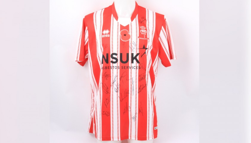 Lincoln City Official Poppy Shirt Signed by the Team