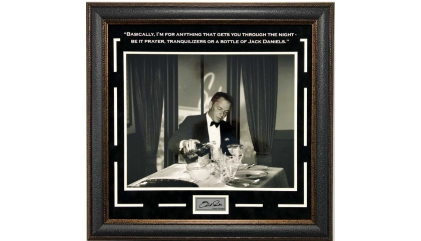 """Frank Sinatra """"Whatever Gets you Through the Night"""" Vintage Photograph"""