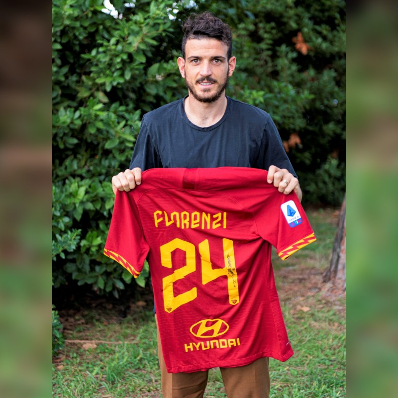 Florenzi's Roma Match-Issued Signed Shirt, 2019/20