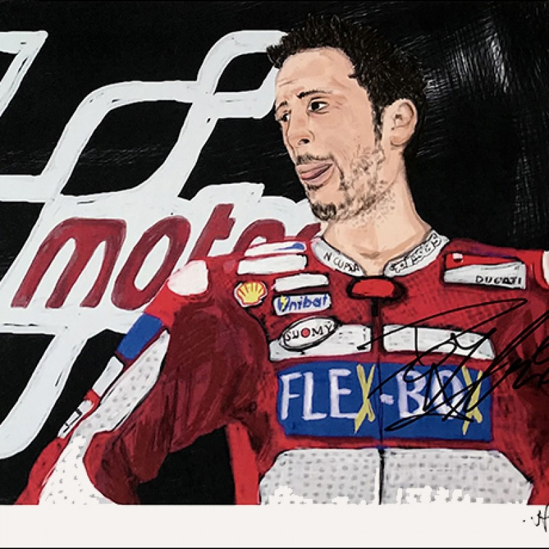 """Andrea Dovizioso: Race 10, Austria"" by Tammy Gorali"