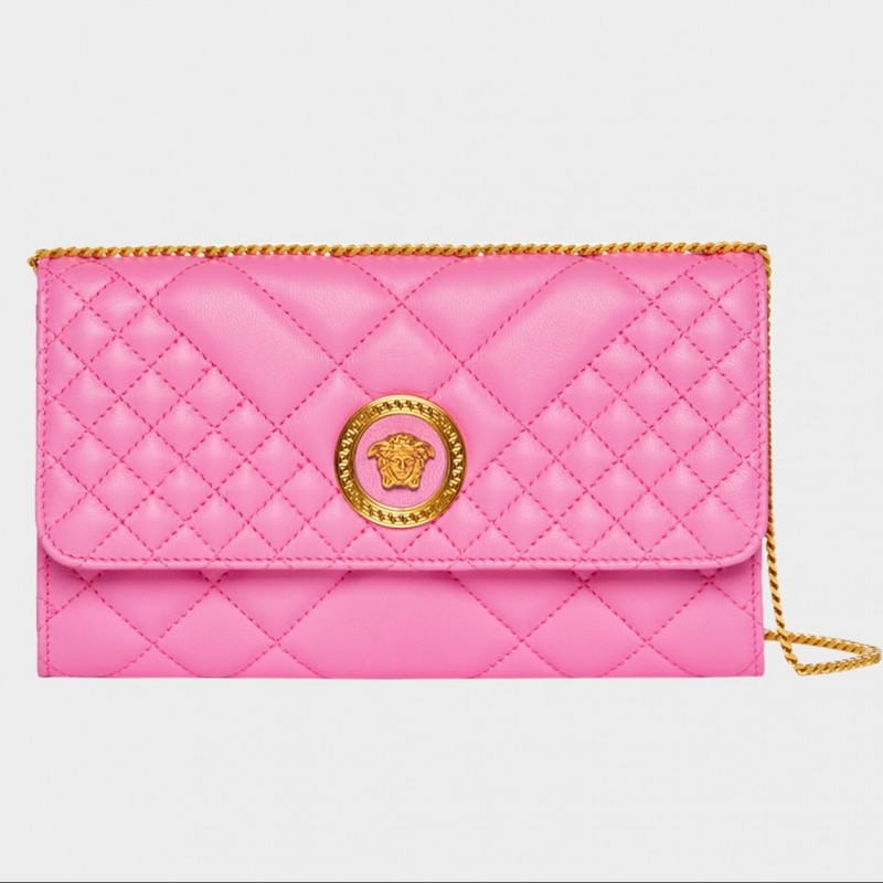 Quilted Icon Evening Bag by Versace