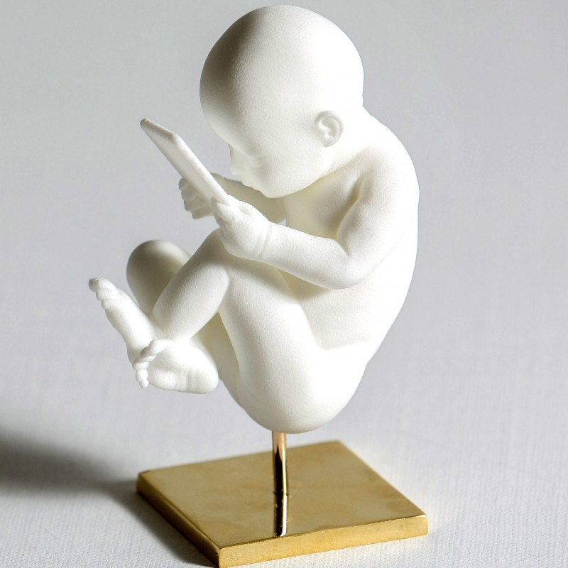 """Baby Connection"" Sculpture by Federico Clapis"