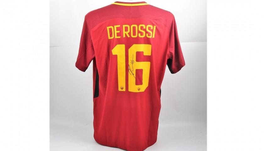 De Rossi's Signed Authentic Roma Shirt, 2017/18 - CharityStars