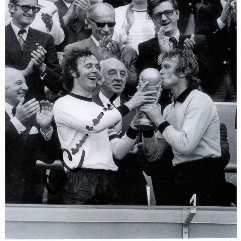 Franz Beckenbauer Signed Photograph, 1974 World Cup