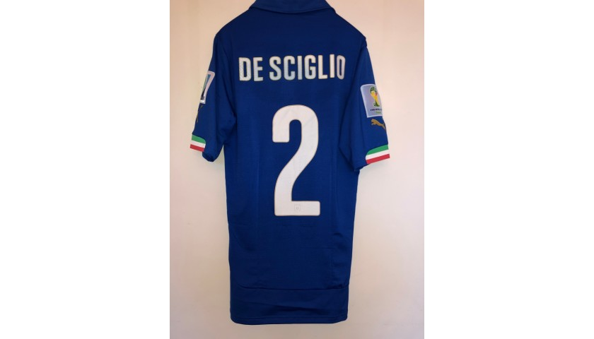 De Sciglio's Italy Match Shirt, 2014 World Cup