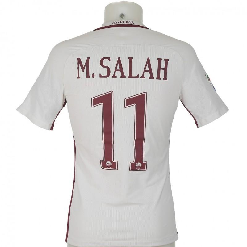 Salah's Match-Worn 2016/17 Bologna-Roma Shirt