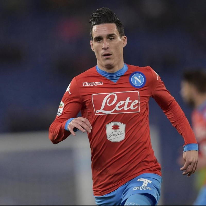 Callejon's Napoli Worn and Signed Shirt, 2015/16