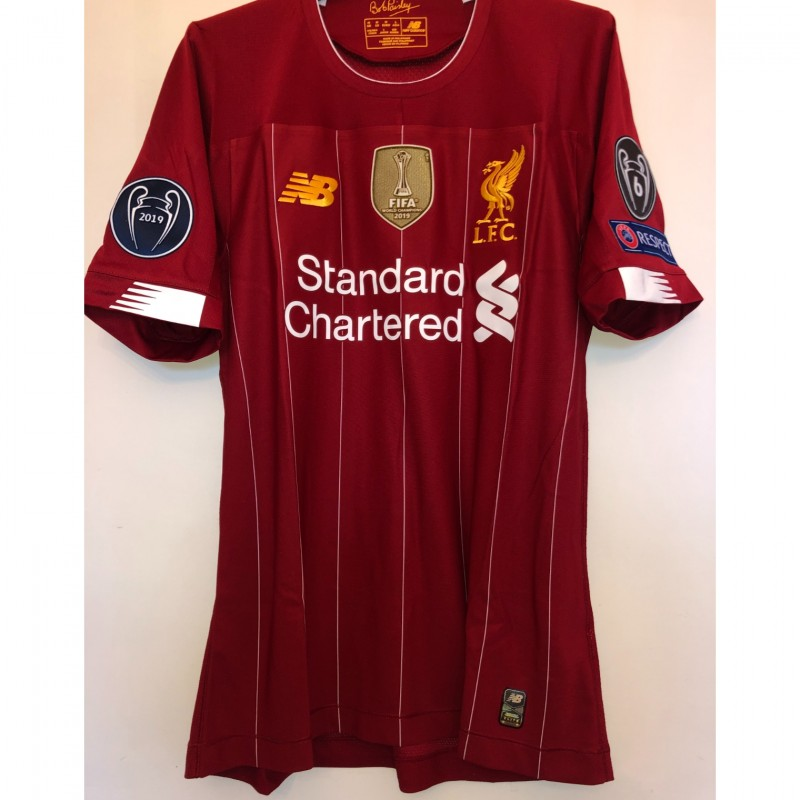 Salah's Liverpool Match-issued Shirt, UCL 2019/20