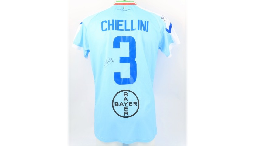 Chiellini's Worn and Signed Shirt, Partita del Cuore 2019