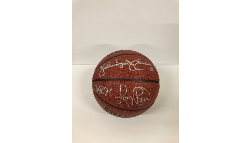 Magic Johnson, Larry Bird and Julius Erving Signed Basketball