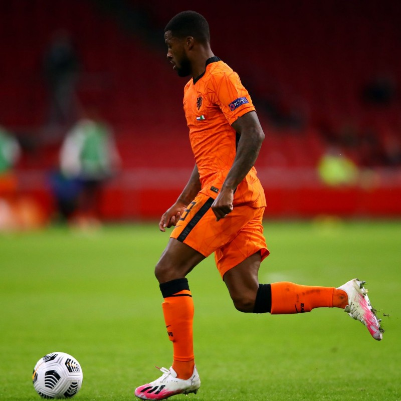 Wijnaldum's Match Shirt, Holland-Italy 2020