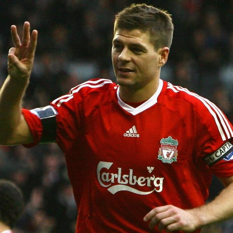 Gerrard's Official Liverpool Signed Shirt, 2008/09