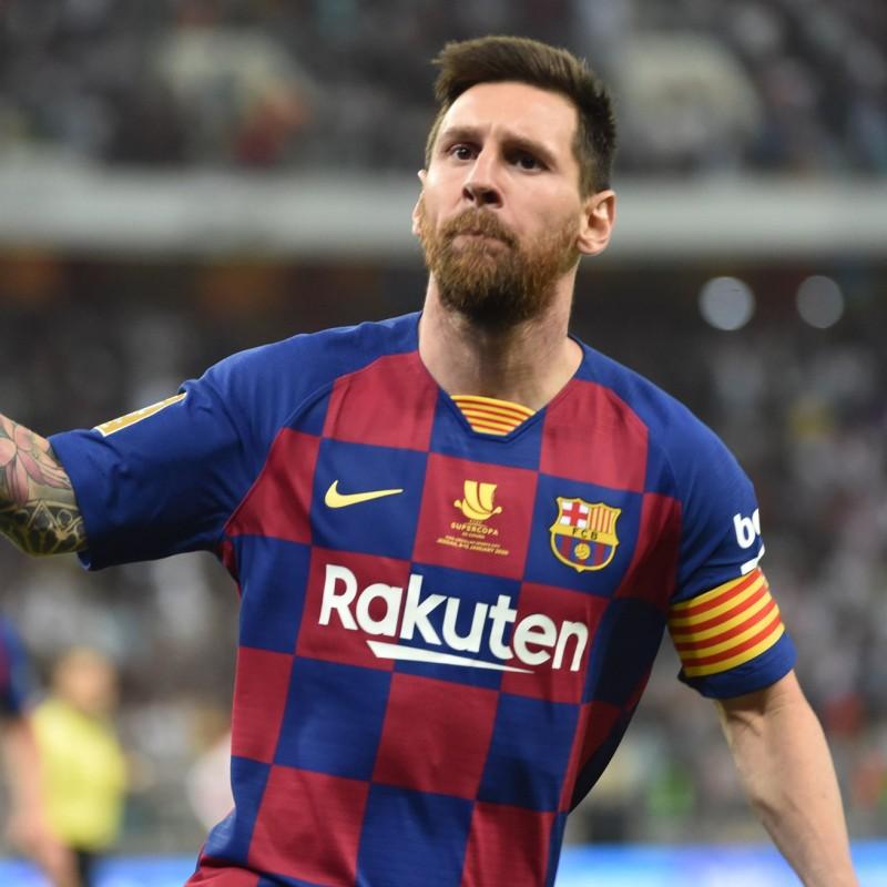 Messi's Barcelona Signed Match Shirt, Supercopa 2020 Final