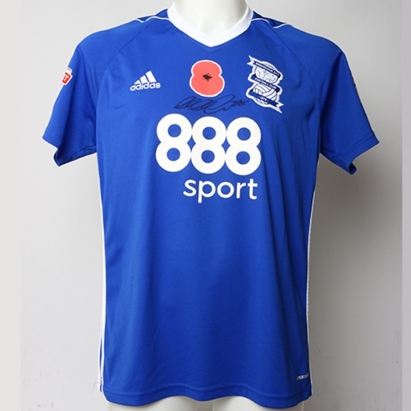 Poppy Shirt Signed by Birmingham City FC's Michael Morrison
