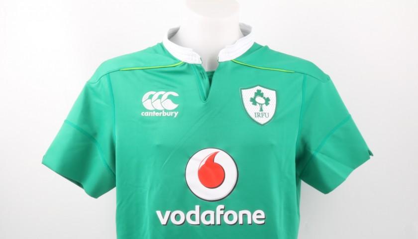 Henshaw Match Worn Shirt, Italy-Ireland 11/02/2017