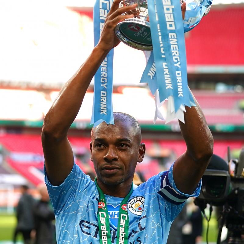 Fernandinho's Manchester City Home Signed Shirt
