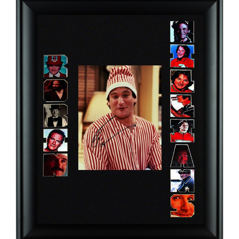 Robin Williams Hand Signed, Custom Framed Display