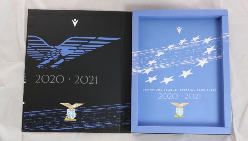 Reina's Lazio Signed Match Shirt, UCL 2020/21 - Limited Edition Box