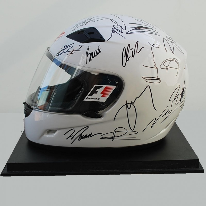 2016 F1 Helmet signed by the drivers