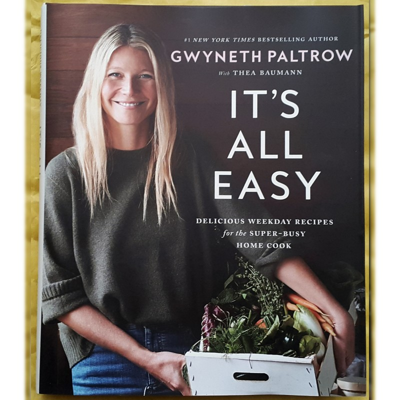 "Libro ""It's All Easy"" autografato dall'attrice Gwyneth Paltrow"