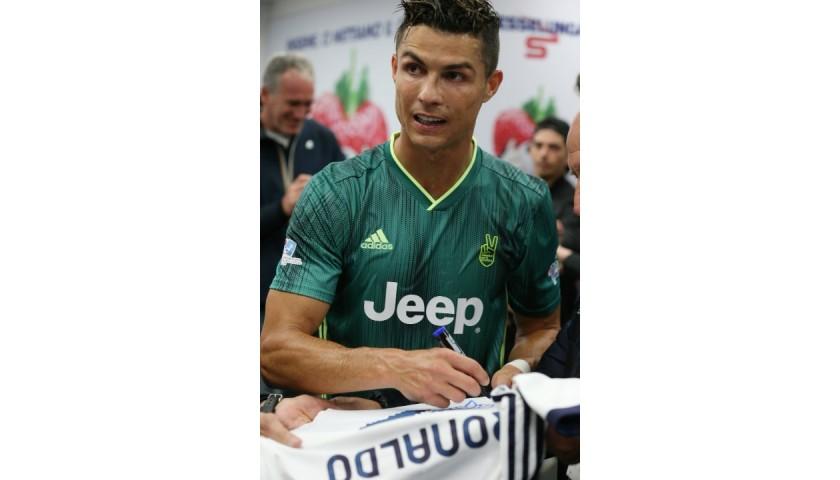 Ronaldo's Match-Issued Signed Shirt, Partita del Cuore 2019