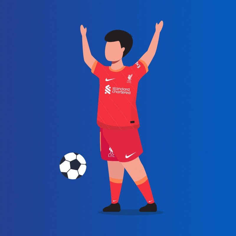 Virtual Child Mascot Package for LFC vs Manchester City