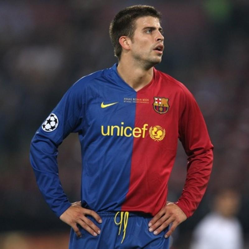 Pique's Barcelona Match Shirt, Liga 2008/09