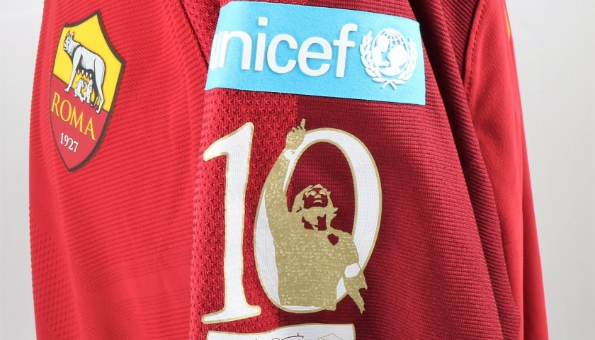 De Rossi's Issued Shirt, Roma-Genoa - Special UNICEF Patch