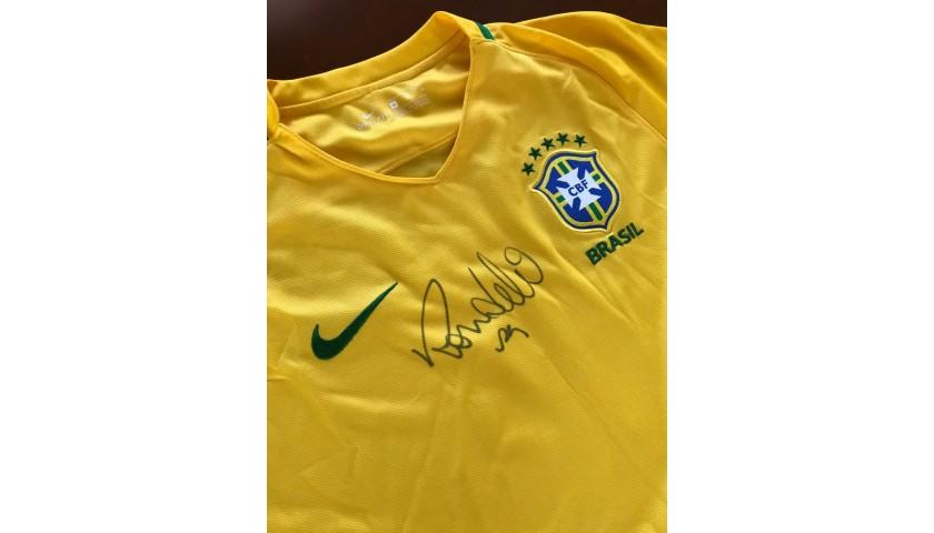 newest afa6e c353e Ronaldo Nazario 2016 Signed Store Shirt - CharityStars