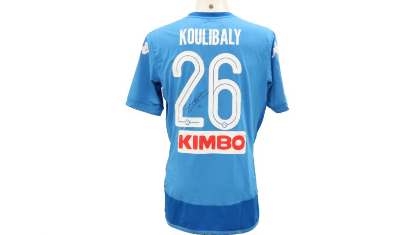 Koulibaly's Official Napoli Signed Shirt, 2017/18