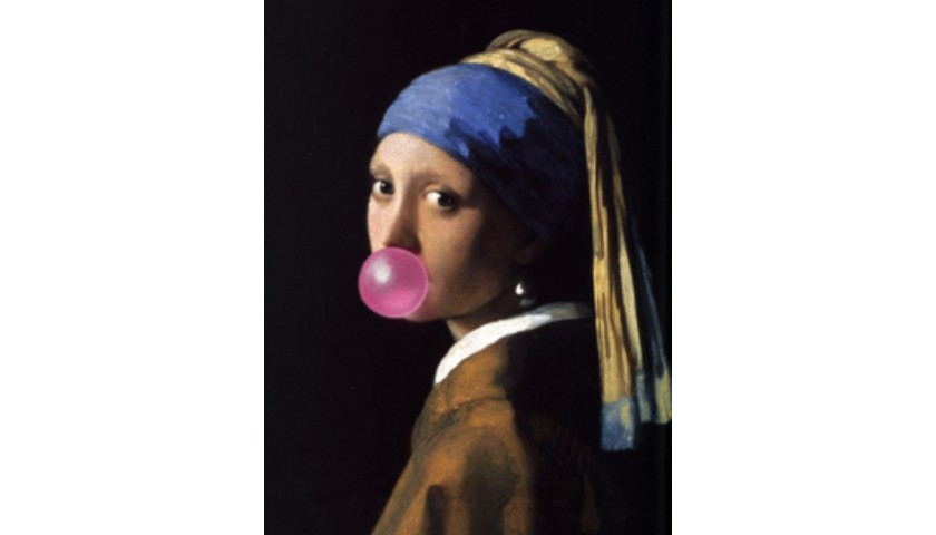 """Girl With The Pearl Earring Bubble Gum"" by Thomas Hussung"