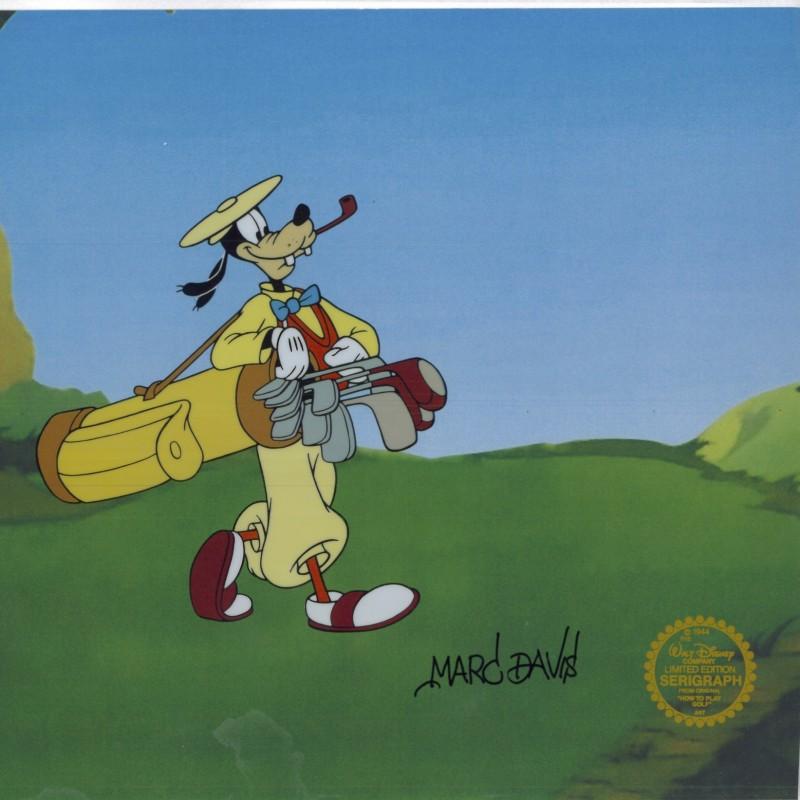 "Disney ""Goofy Golf"" Sericel Signed by Marc Davis"
