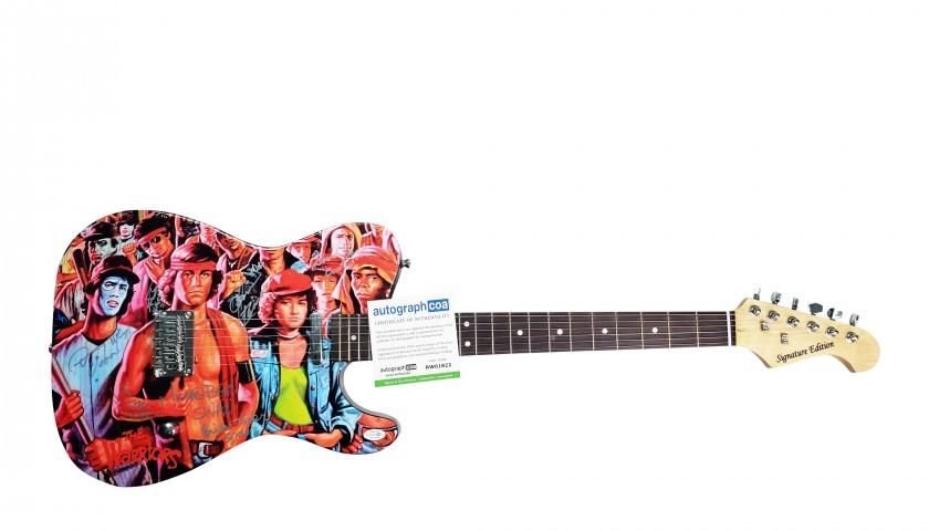 The Warriors Hand Signed Custom Graphics Guitar