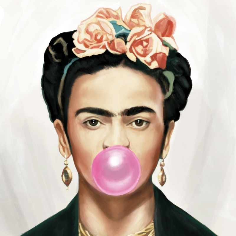 """Frida Kahlo Bubble Gum"" by Thomas Hussung #2"